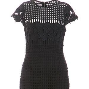 Saylor Black Lace Dress